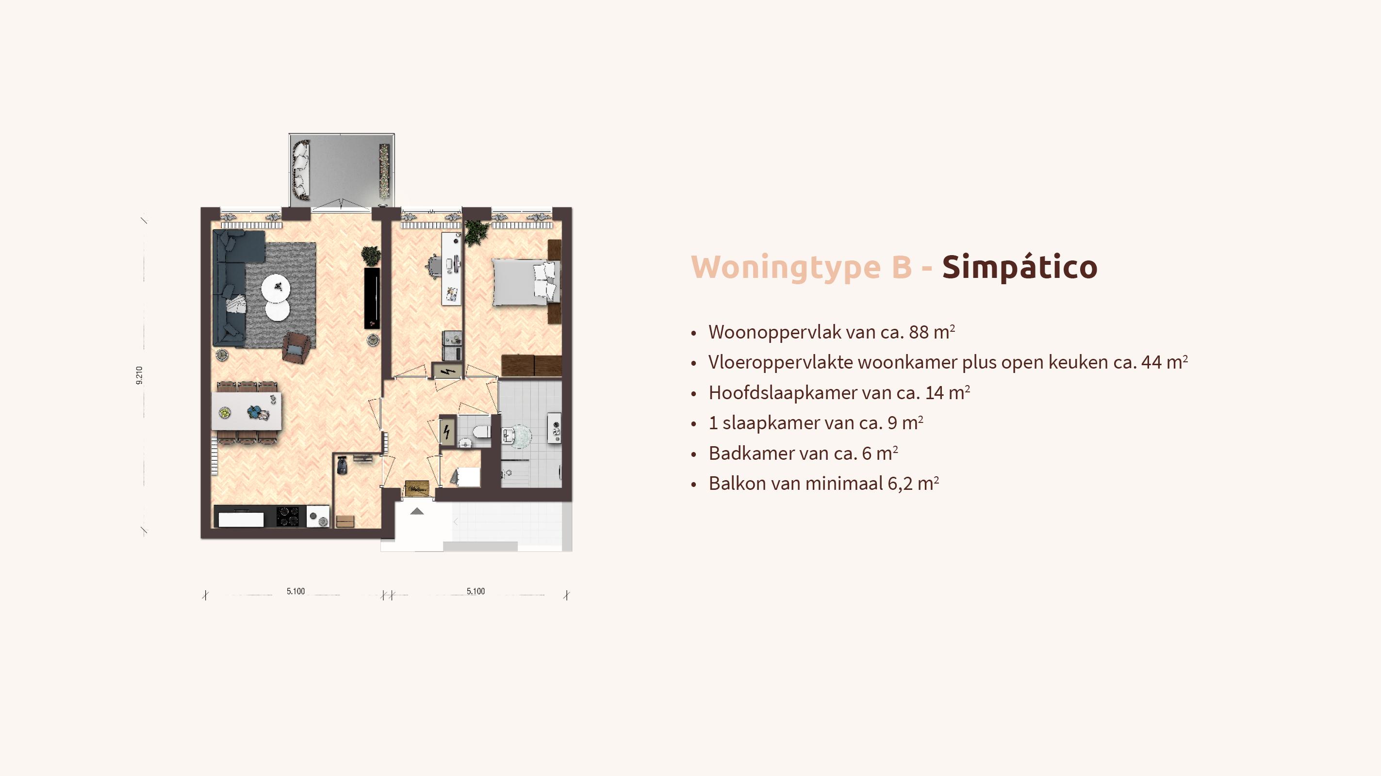 Woningtype B - Simpático - Pop-up - Appartementen Leidsche Rijn - Picaz Utrecht