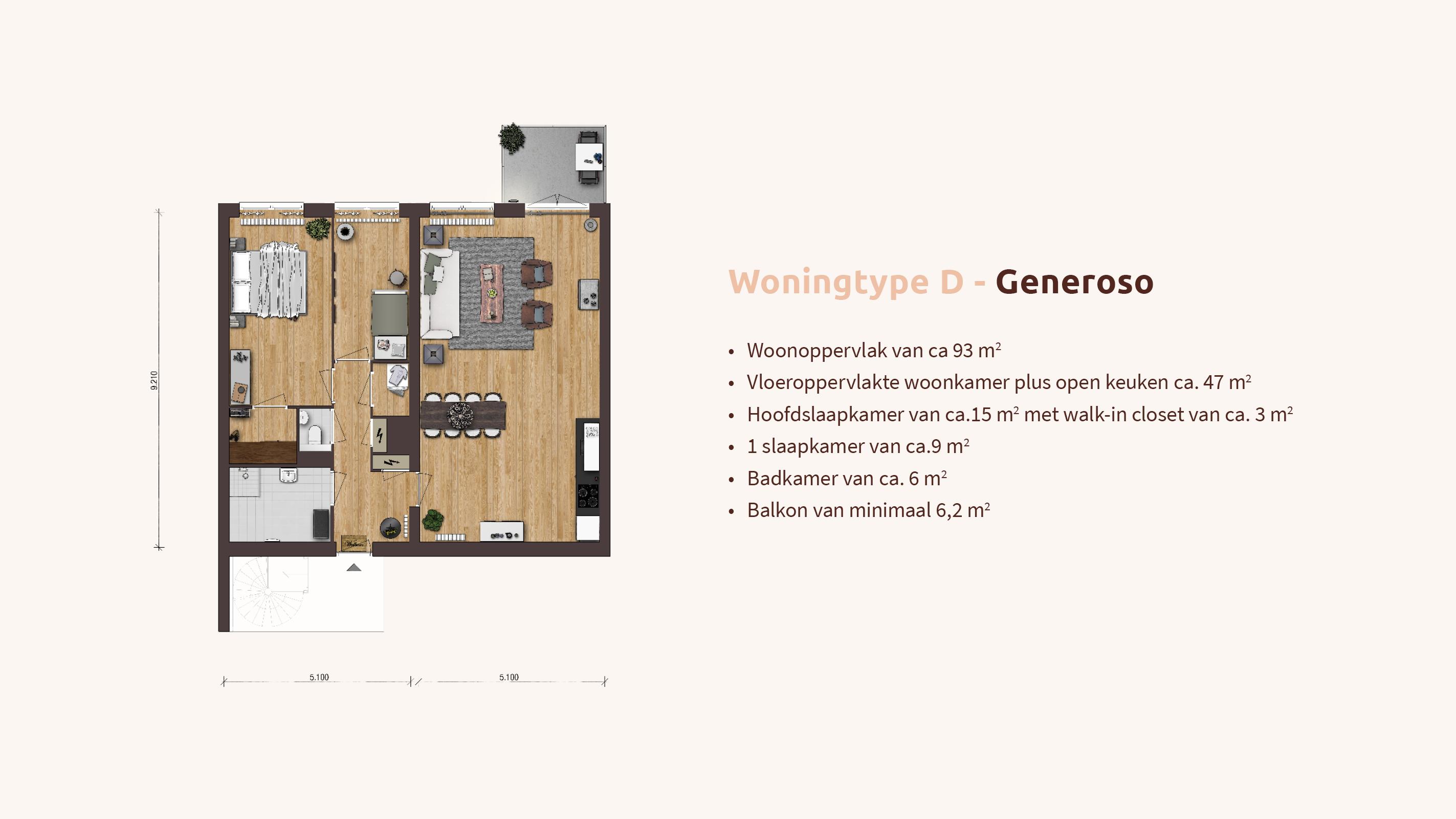 Woningtype D - Generoso - Pop-up - Appartementen Leidsche Rijn - Picaz Utrecht